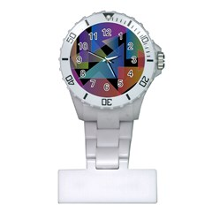 Triangle Gradient Abstract Geometry Plastic Nurses Watch