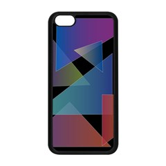 Triangle Gradient Abstract Geometry Apple Iphone 5c Seamless Case (black)