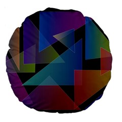 Triangle Gradient Abstract Geometry Large 18  Premium Flano Round Cushions by BangZart