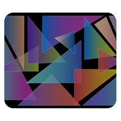 Triangle Gradient Abstract Geometry Double Sided Flano Blanket (small)  by BangZart