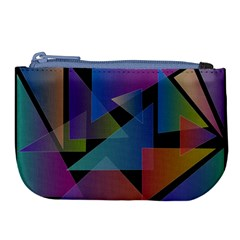 Triangle Gradient Abstract Geometry Large Coin Purse by BangZart