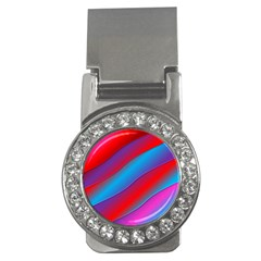 Diagonal Gradient Vivid Color 3d Money Clips (cz)