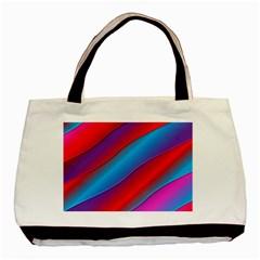 Diagonal Gradient Vivid Color 3d Basic Tote Bag