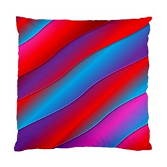 Diagonal Gradient Vivid Color 3d Standard Cushion Case (two Sides)
