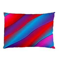 Diagonal Gradient Vivid Color 3d Pillow Case