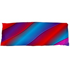 Diagonal Gradient Vivid Color 3d Body Pillow Case (dakimakura)