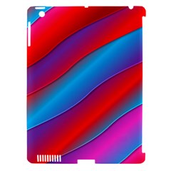 Diagonal Gradient Vivid Color 3d Apple Ipad 3/4 Hardshell Case (compatible With Smart Cover)