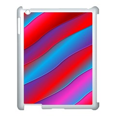 Diagonal Gradient Vivid Color 3d Apple Ipad 3/4 Case (white) by BangZart