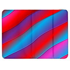Diagonal Gradient Vivid Color 3d Samsung Galaxy Tab 7  P1000 Flip Case