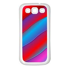 Diagonal Gradient Vivid Color 3d Samsung Galaxy S3 Back Case (white)