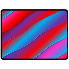 Diagonal Gradient Vivid Color 3d Double Sided Fleece Blanket (large)