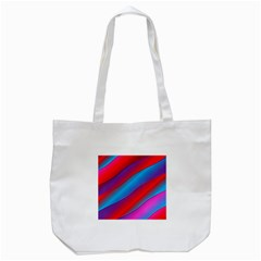 Diagonal Gradient Vivid Color 3d Tote Bag (white)