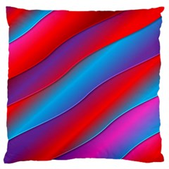 Diagonal Gradient Vivid Color 3d Large Flano Cushion Case (two Sides)