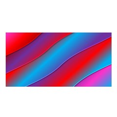 Diagonal Gradient Vivid Color 3d Satin Shawl by BangZart