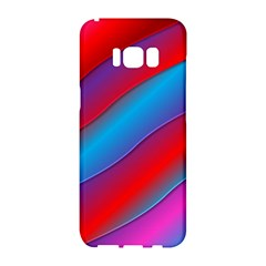 Diagonal Gradient Vivid Color 3d Samsung Galaxy S8 Hardshell Case