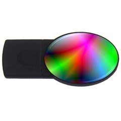 Course Gradient Background Color Usb Flash Drive Oval (2 Gb)