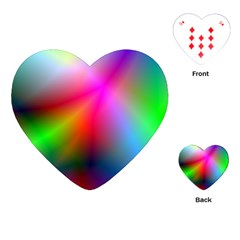 Course Gradient Background Color Playing Cards (heart)  by BangZart