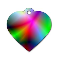 Course Gradient Background Color Dog Tag Heart (one Side)