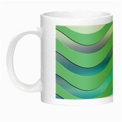Abstract Digital Waves Background Night Luminous Mugs