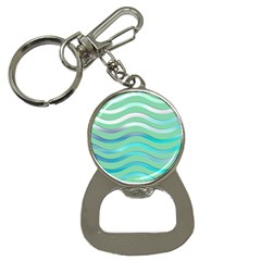 Abstract Digital Waves Background Button Necklaces