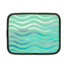 Abstract Digital Waves Background Netbook Case (small)