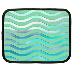 Abstract Digital Waves Background Netbook Case (large)