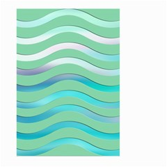 Abstract Digital Waves Background Large Garden Flag (two Sides)