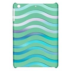Abstract Digital Waves Background Apple Ipad Mini Hardshell Case