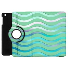 Abstract Digital Waves Background Apple Ipad Mini Flip 360 Case