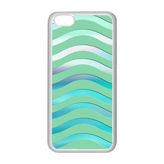 Abstract Digital Waves Background Apple Iphone 5c Seamless Case (white)