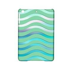 Abstract Digital Waves Background Ipad Mini 2 Hardshell Cases