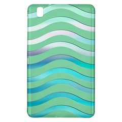Abstract Digital Waves Background Samsung Galaxy Tab Pro 8 4 Hardshell Case