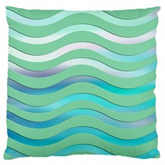 Abstract Digital Waves Background Large Flano Cushion Case (two Sides) by BangZart
