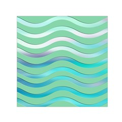 Abstract Digital Waves Background Small Satin Scarf (square)