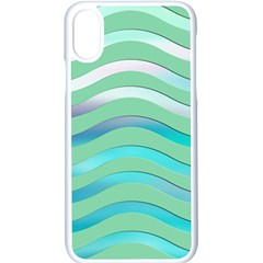 Abstract Digital Waves Background Apple Iphone X Seamless Case (white)