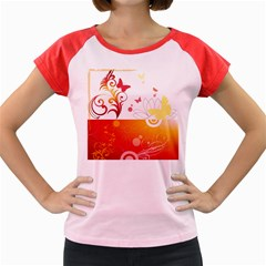 Spring Butterfly Flower Plant Women s Cap Sleeve T Shirt by BangZart