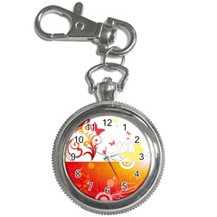 Spring Butterfly Flower Plant Key Chain Watches