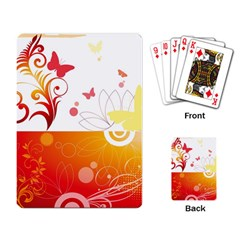 Spring Butterfly Flower Plant Playing Card by BangZart