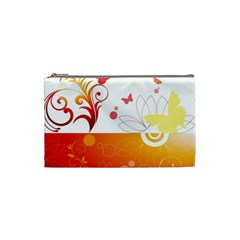 Spring Butterfly Flower Plant Cosmetic Bag (small)