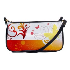 Spring Butterfly Flower Plant Shoulder Clutch Bags