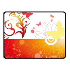 Spring Butterfly Flower Plant Fleece Blanket (small) by BangZart