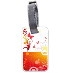 Spring Butterfly Flower Plant Luggage Tags (two Sides)