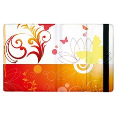 Spring Butterfly Flower Plant Apple Ipad 2 Flip Case