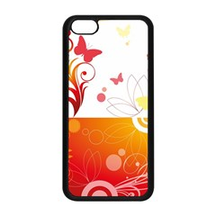 Spring Butterfly Flower Plant Apple Iphone 5c Seamless Case (black)