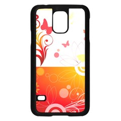 Spring Butterfly Flower Plant Samsung Galaxy S5 Case (black)