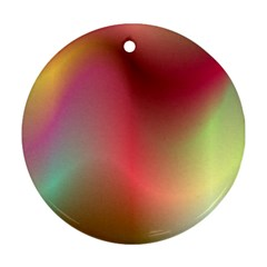 Colorful Colors Wave Gradient Ornament (round) by BangZart