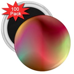 Colorful Colors Wave Gradient 3  Magnets (100 Pack)
