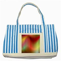 Colorful Colors Wave Gradient Striped Blue Tote Bag