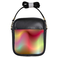 Colorful Colors Wave Gradient Girls Sling Bags