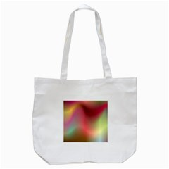 Colorful Colors Wave Gradient Tote Bag (white) by BangZart